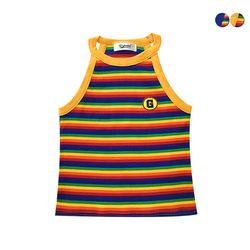RAINBOW STRIPE SLEEVELESS TOP(2color)