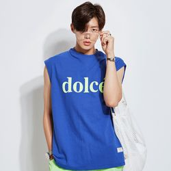DOLCE 오버핏 나시티.블루
