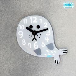니노타임 무소음 아크릴 벽시계 (물개 대)