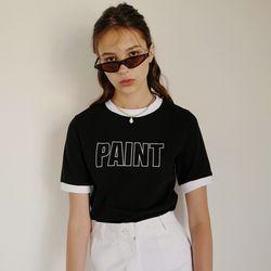 PAINT CROP T (BLACK)