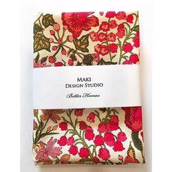 [Maki Design Studio]패턴손수건-2.방울꽃레드