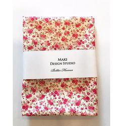 [Maki Design Studio]패턴손수건-3.핑크미니꽃