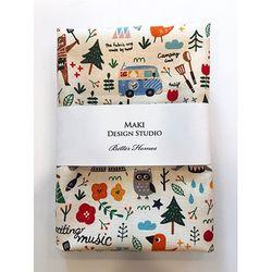 [Maki Design Studio]패턴손수건-5.해피캠핑