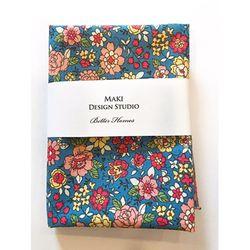 [Maki Design Studio]패턴손수건-6.블루꽃