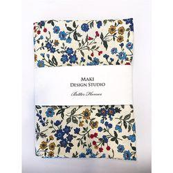 [Maki Design Studio]패턴손수건-10.블루들꽃