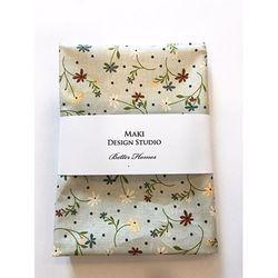 [Maki Design Studio]패턴손수건-12.카키들꽃