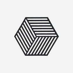 존덴마크 존 헥사곤 팟홀더 실리콘 냄비받침 - 블랙