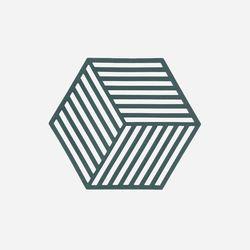 존덴마크 존 헥사곤 팟홀더 실리콘 냄비받침 - 딥그린