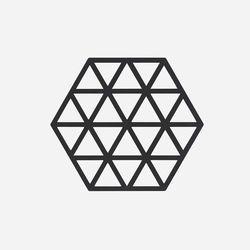 존덴마크 존 트라이앵글 팟홀더 실리콘 냄비받침 - 블랙