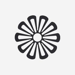 존덴마크 존 데이지 팟홀더 실리콘 냄비받침 - 블랙
