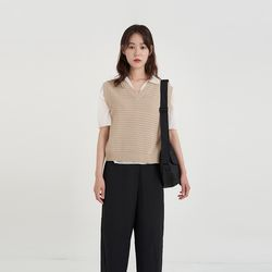 punching knit vest (3colors)