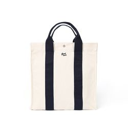 쿠커리 Big House Tote (ecru navy)