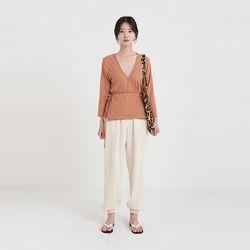 cropped linen lap cardigan (2colors)