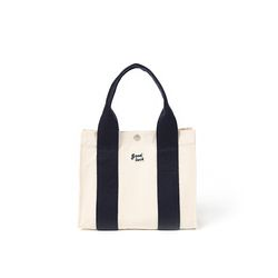 쿠커리 Small House Tote (ecru navy)