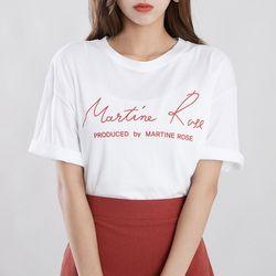 마티니로즈 레터링 티셔츠
