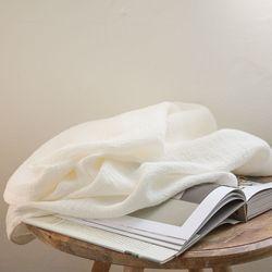 디어 린넨 블랭킷-warm white(S)