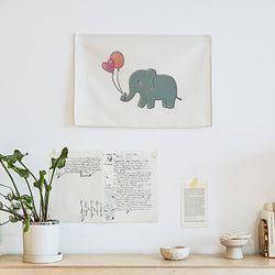 코끼리 패브릭 포스터.가리개커튼 (M 사이즈)