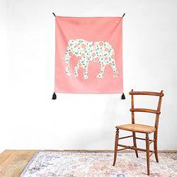 코끼리 패브릭 포스터 (행잉L 사이즈)