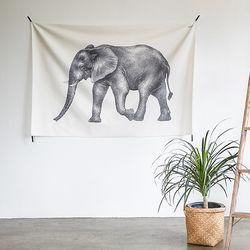 코끼리 패브릭포스터.가리개커튼 (태피스트리)