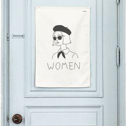 토일렛 패브릭 포스터. 화장실 표지판 (행잉L 사이즈)