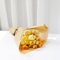 장미꽃 함께 있으면 - 산토리니 장미 꽃다발(생화)