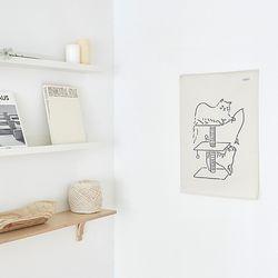 키티 드로잉 패브릭 포스터.가리개커튼 (M 사이즈)