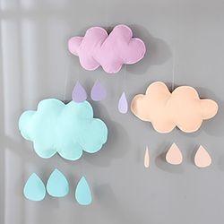 몽실몽실 구름 모빌2(파스텔)-소(비오는 구름)