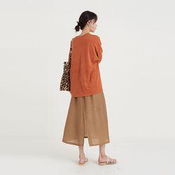 silk banding skirt (3colors)