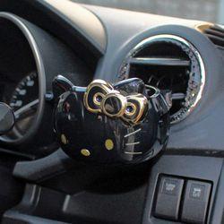 헬로키티 차량 드링크 컵홀더 (블랙골드)