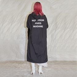 lettering rain coat (2 color) - UNISEX