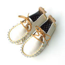 클래식 크림옐로우 아기 신발 구두 걸음마신발 아동화