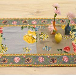 포푸리 스프링 꽃 패턴 테이블 러너