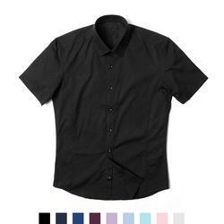 베이직 슬림핏 남자 반팔셔츠
