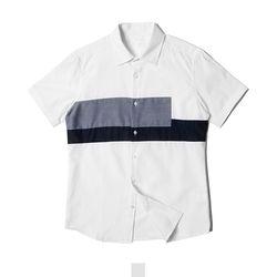 투블럭 남자반팔셔츠
