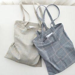 tartan check ecobag ( 2 color )