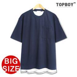 [탑보이] 백 셔츠 분또 오버핏 반팔티셔츠 (KBN279)