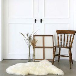 청정 호주산 천연 양모 러그60x60cm