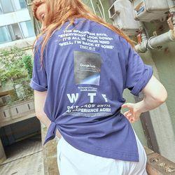 백 프린팅 시리즈 티셔츠 WTF