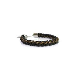[오뜨르뒤몽드]chain leather men bracelet (khaki)