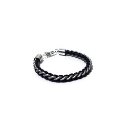 [오뜨르뒤몽드]chain leather men bracelet (navy)