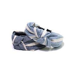 [오뜨르뒤몽드]stripe linen hairband (2colors)