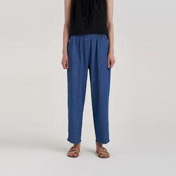 tencel banding denim pants