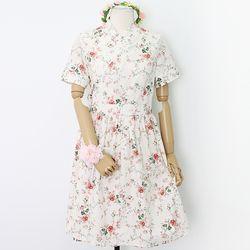 복숭아꽃 철릭원피스