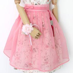 노방 허리치마( 핑크)
