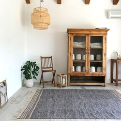 로프트 테슬 사계절 면 거실 침실 러그 물세탁70x200cm