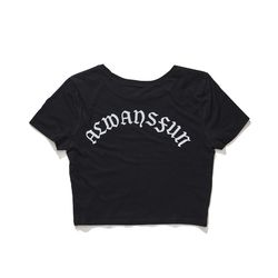 BSRABBIT ALWAYSFUN CROP T-SHIRT BLACK