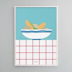유니크 디자인 포스터 M 감자와 옥수수 A3(중형)