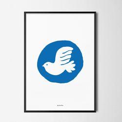 유니크 인테리어 디자인 포스터 M 평화2 A3(중형)