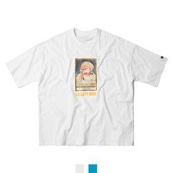 남녀공용 베이비 프린팅 루즈핏 반팔티셔츠