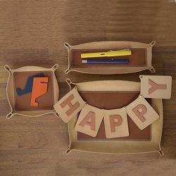 투톤 레더 트레이 - Pen tray